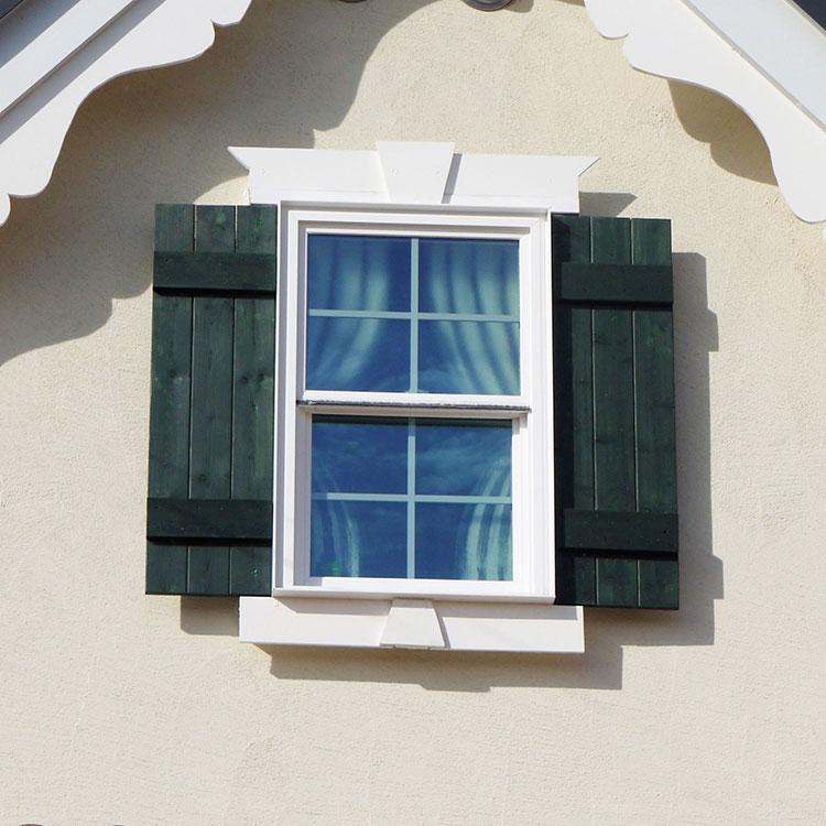 展示場前面の窓